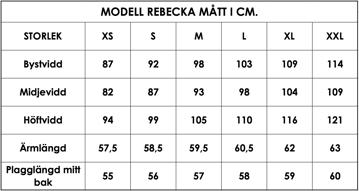 Måttlista modell Rebecka