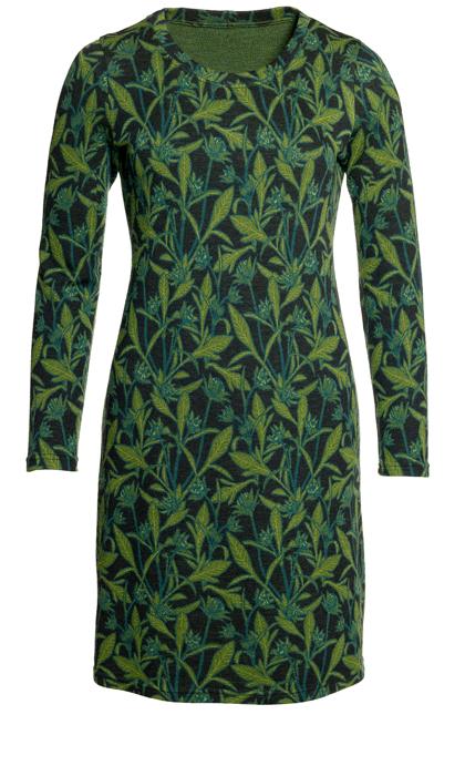 Ullklänning Annika Storblommig grön