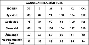 Måttlista modell Annika