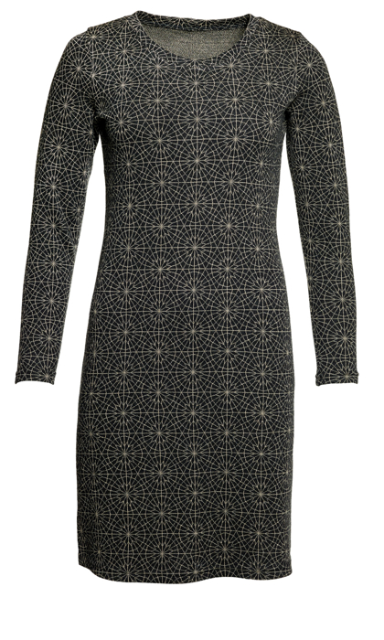 Ullklänning Annika Cirkel svartbeige