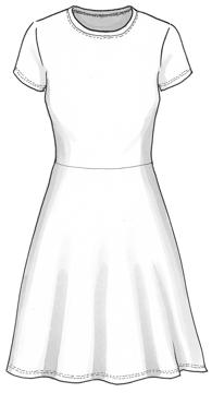 Plaggskiss modell Karina