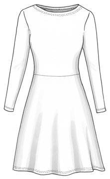 Plaggskiss modell Karolina