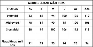 Måttlista modell Liliane