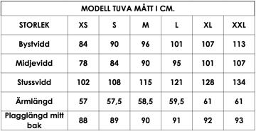Måttlista modell Tuva