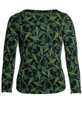 Ulljumper Boel Storblommig grön