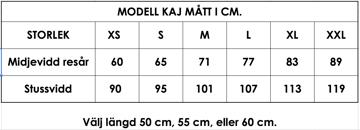Måttlista modell Kaj