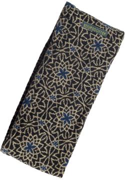 Pannband Tulip svartbeige blå