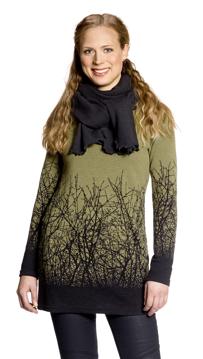 Ulltunika Renée Körsbär grön