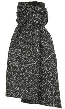 Halsduk i filtad ull – Bonn svartvit