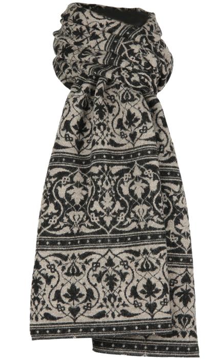 Halsduk i filtad ull – Parissa svartbeige
