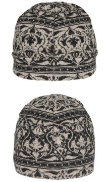 Mössa i filtad ull – Parissa svartbeige