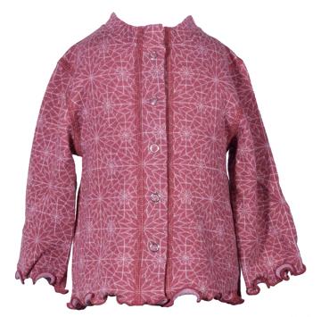 Barnkofta Hexagon rosa volang 3-6 mån