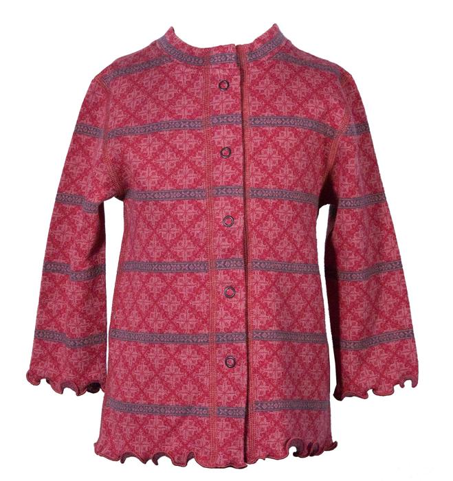 Barnkofta Romania rosa röd volang 6-12 mån