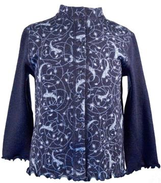 Barnkofta Isfahan blå volang 3-4 år
