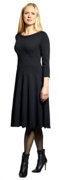 Ullklänning Karin Uni svart