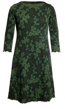 Ullklänning Linn Fleuri grön