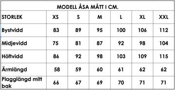 Måttlista modell Åsa