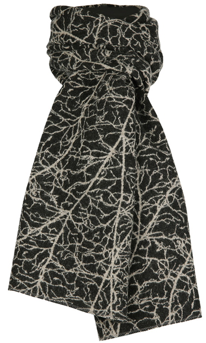 Halsduk i filtad ull – Amellanch svartbeige