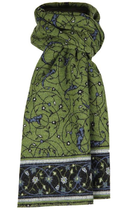 Halsduk i filtad ull – Isfahan grön