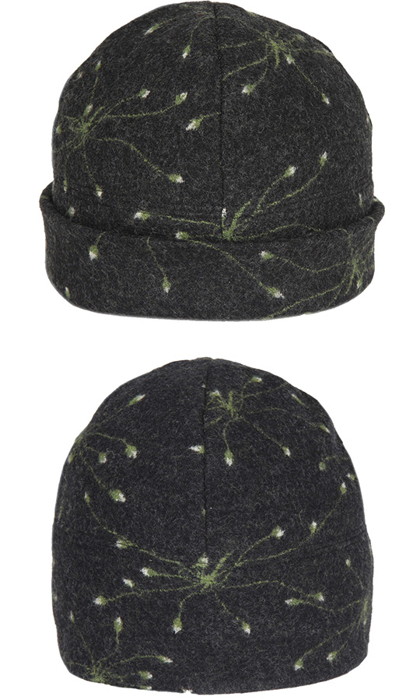 Mössa i filtad ull – Fryle svartgrön