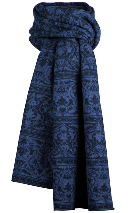 Halsduk i filtad ull – Parissa blå