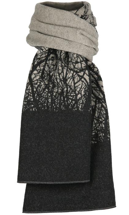 Halsduk i filtad ull – Körsbär beige svart