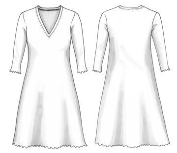 Ullklänning Anneli Storblommig valnöt