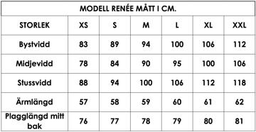 Måttlista modell Renée