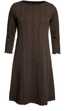 Ullklänning Linn Fennel brun