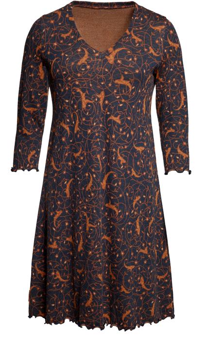 Ullklänning Anneli Isfahan blå konjak