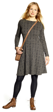 Ullklänning Karolina Polygon svartbeige