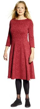 Ullklänning Karin Vinca röd