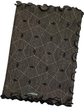 Ullhalsduk Polygon svartbeige