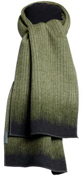 Halsduk i filtad ull – Lotus grön