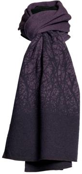 Halsduk i filtad ull – Körsbär lila