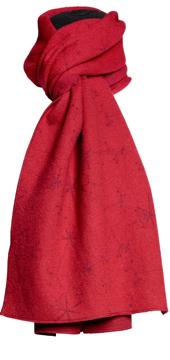 Halsduk i filtad ull – Måra röd