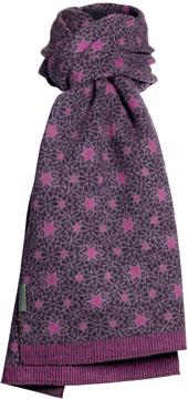 Halsduk i filtad ull – Tulip lila
