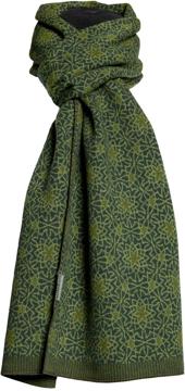 Halsduk i filtad ull – Tulip grön