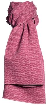 Halsduk i filtad ull – Romb rosa