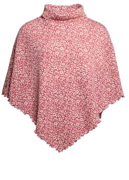 Kort Ullponcho Vinca ros